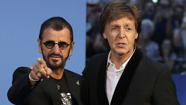 Ringo Starr a Paul McCartney na premiéře