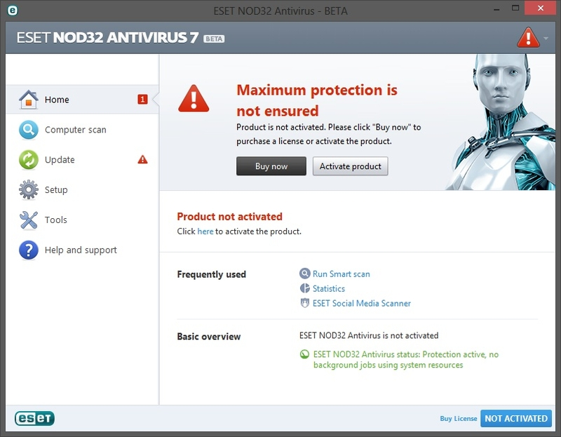 eset nod32 antivirus  latest version crack