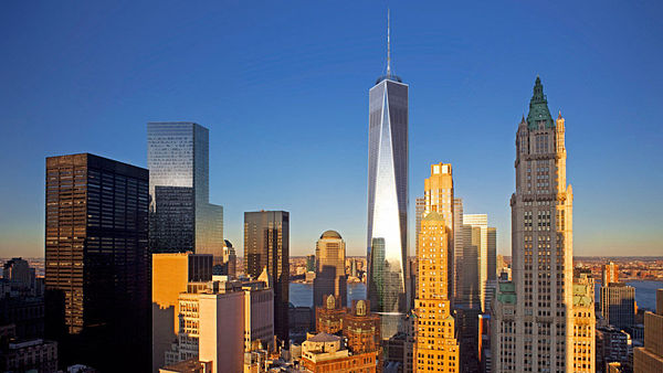 72 Vesey Street, New York City. To je adresa gigantické stavby One World Trade Center.