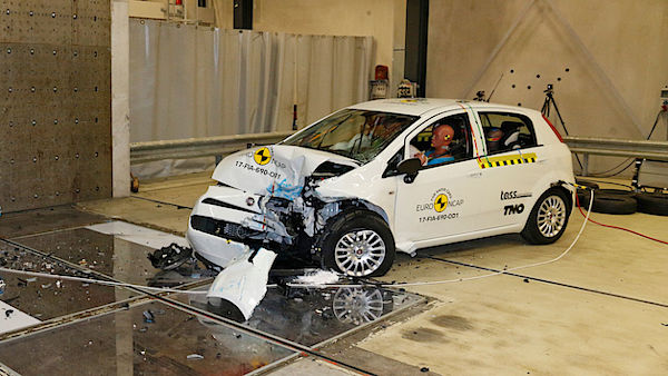 Fiat Punto - crash test Euro NCAP 2017