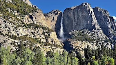 view of Bridal Veil Waterfall Yosemite