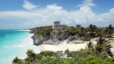 Mexico - Tulum ruins by the sea - Unesco