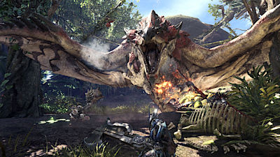 Ukázka ze hry Monster Hunter: World