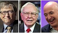 Bill Gates, Warren Buffett a Jeff Bezos