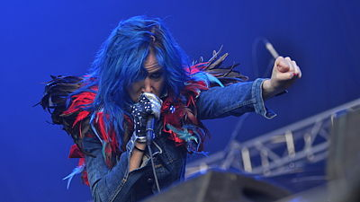 Juliette Lewis (US) na festivalu Rock for People