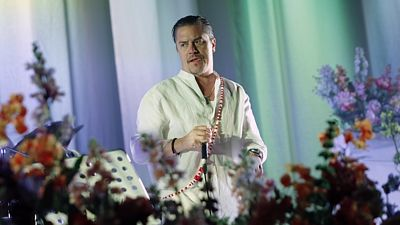 Zpěvák Faith No More Mike Patton na Rock for People