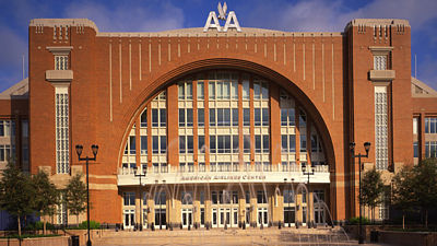 Budova American Airlines Center v Dallasu.