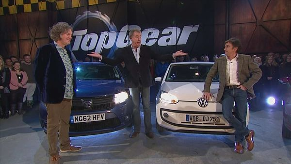 Jeremy Clarkson, Richard Hammond a James May v pořadu Top Gear