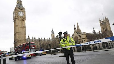 Police tapes off Parliament Square after reports of loud bangs, in LondonPolice tapes off Parliament Square after reports of loud bangs, in London, Britain, March 22, 2017. REUTERS/Stefan Wermuth