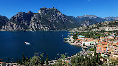 Panorama on Lake Garda