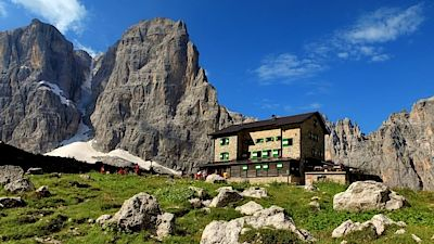 Alpine hut - Rifugio in the Dolomites