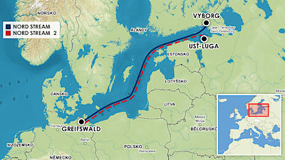 Plynovody Nord Stream a Nord Stream 2.