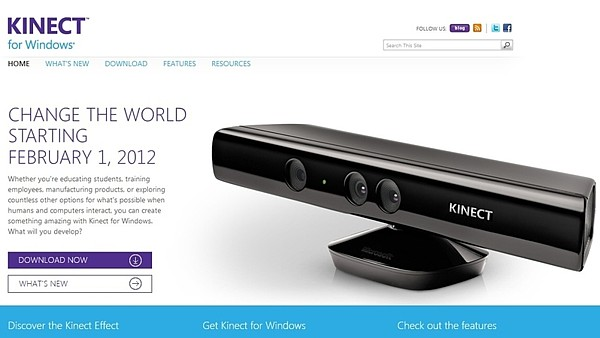 Kinect pro Windows