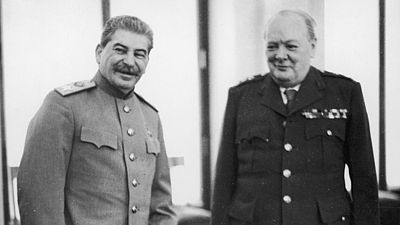 Josif Stalin a Winston Churchill