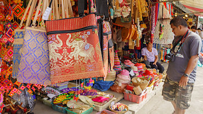 BANGKOK THAILAND - 30 JULY Jatujak Market is biggest flea market in Thailand and available in both the traditional and modern handmade product on 30 July, 2016 at Jatujak Market B