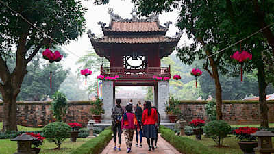 HA NOI, VIET NAM, January 19, 2017 Temple of Literature, Vietnam, in downtown Ha Noi, Vietnam