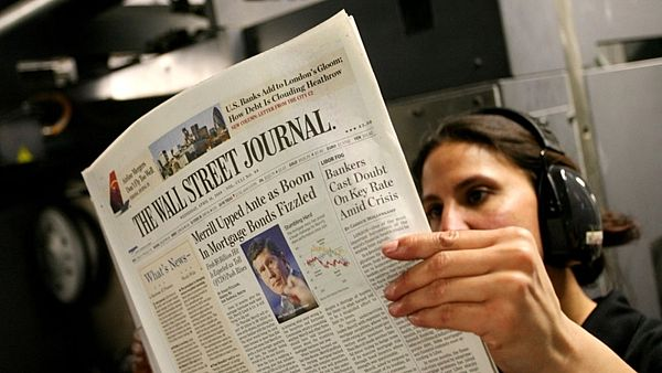 The Wall Street Journal na ilustrační fotografii