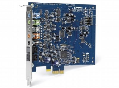 Creative Sound Blaster v provedení X-Fi Xtreme Music do slotu PCI-E.