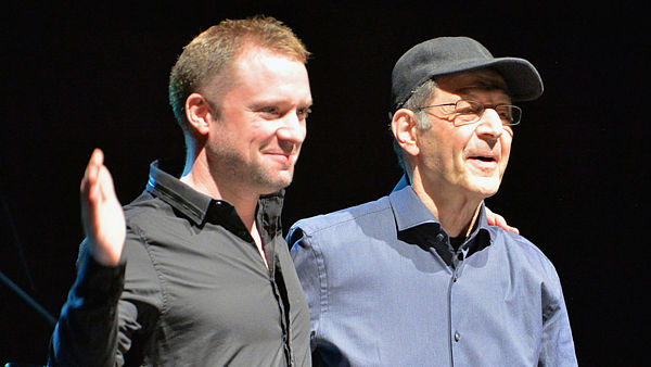 Colin Currie (vlevo) a Steve Reich