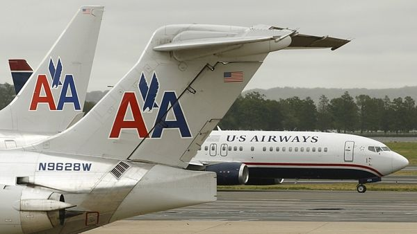 Letadla aerolinek American Air a US Airways