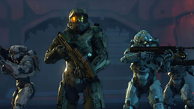 Master Chief a jeho jednotka Blue team