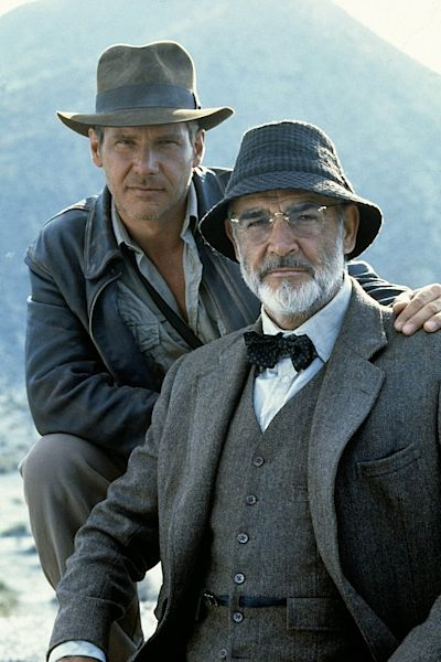 Indiana Jones – Harrison a Sean Connery.