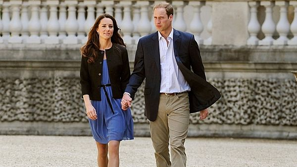 Kate a William v Buckinghamském paláci