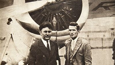Wiley Post s Haroldem Gettym u Winnie Moe