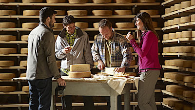 Cheese tasting in an alpine dairy