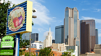 Dallas Famers Market and Skyline
