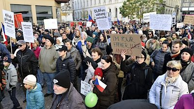 "A demonstration of about 1,000 people called ""The End of a Man's Government Against Prime Minister Andrei Babiš"" took place in Brno."