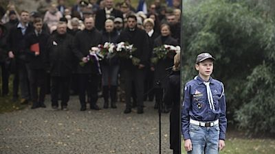 A memorial assembly on the anniversary of the Velvet Revolution was also held at the Memorial to the Victims of Communism in Liberec.
