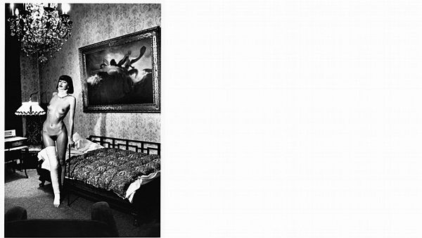 Helmut Newton: Jenny Capitain, Pension Dorian, Berlin 1977