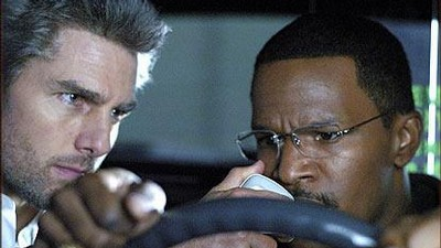 Tom Cruise (vlevo) a Jamie Foxx ve filmu Collateral