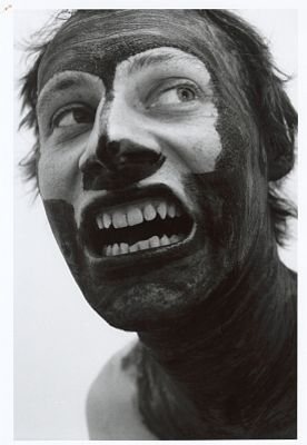Ján Mančuška: The Other (I asked my wife to blacken all parts of my body I cannot see) (2007)
