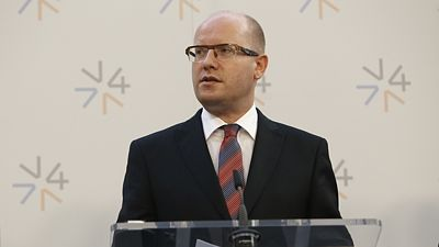 Premiér Bohuslav Sobotka
