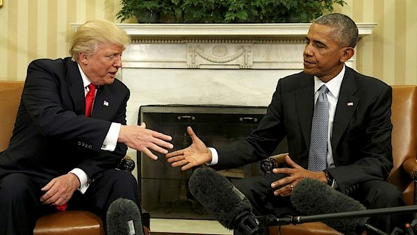 Prezidenti Barack Obama a Donald Trump