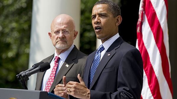 Barack Obama a James Clapper.