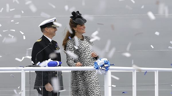 Vévodkyně z Cambridge na křtu lodi Royal Princess