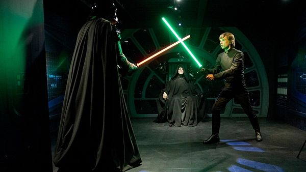 Luke Skywalker a Darth Vader