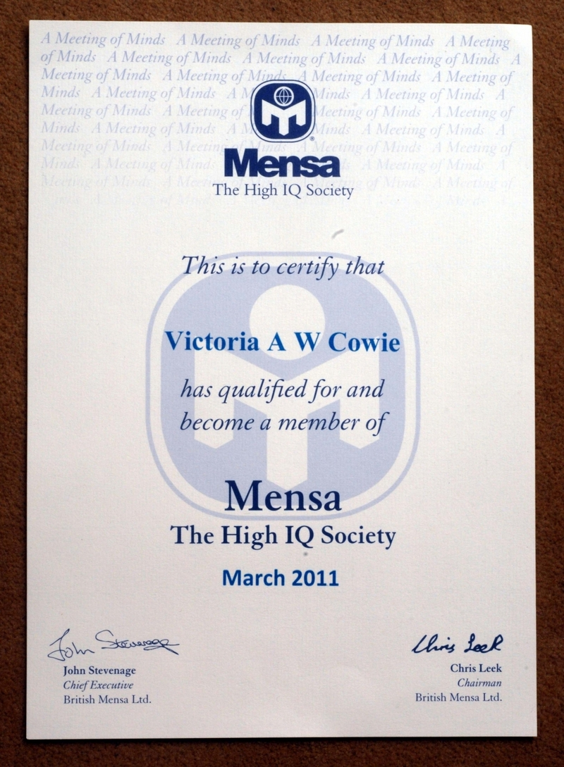 Mensa iq certificate best design sertificate 2017 super intelligent four year old goes from meningitis to mensa 1betcityfo Images