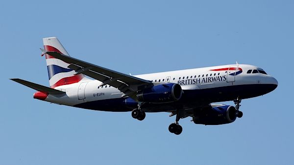 Letoun British Airways Airbus A319.